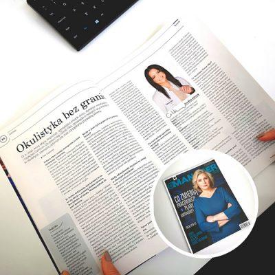 Okulistyka bez granic – wywiad z dr n. med. Anną Marią Ambroziak w magazynie Manager