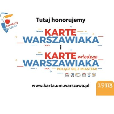10% zniżki z Kartą Warszawiaka!